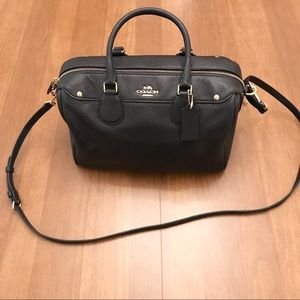 NWT Navy Coach Satchel with removable strap